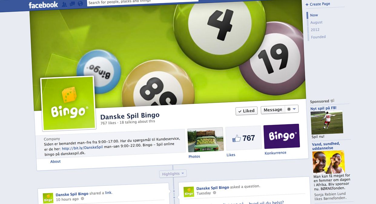 Bingo Facebook cover + Profil
